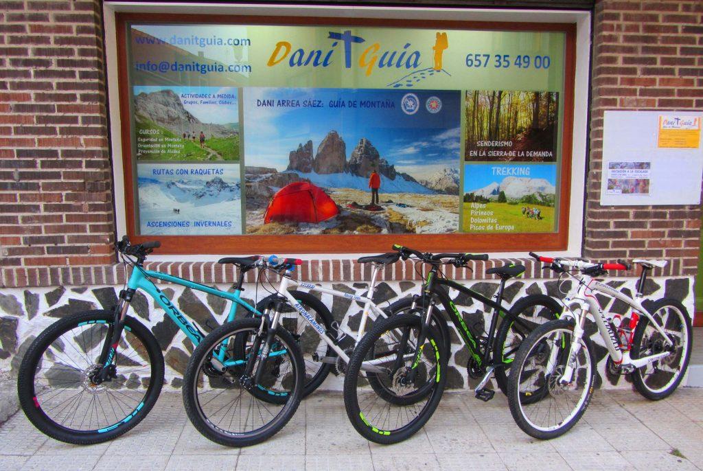 Alquiler de bicicletas en Ezcaray